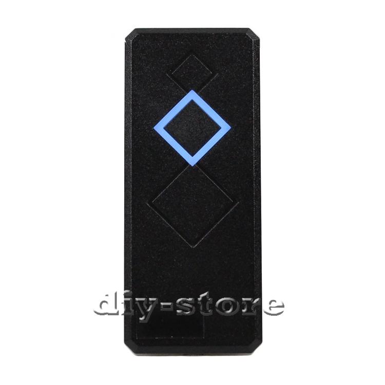 Waterproof Door Access Control Reader Wiegand 26 RFID 125KHz ID Card Reader EM 4100 Black 101A(China (Mainland))