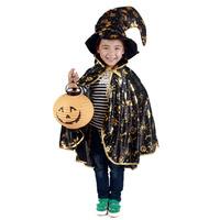 Free shipping Halloween clothes child costume gold elbow cap 88sqm golden pumpkin lacerna pumpkin lantern