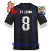 A+++ 8# Rodrigo Palacio Top Men Thai Italy Inter Milan Soccer Jersey Play Version Futbol Uniform Custom Name Rubber Patch