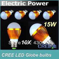 10PCS-Free Shipping 9W/12W/(15W) LED Bulb Bubble Ball High Power E27 GU10 E14 B22 Dimmable Lamp Light,AC85-265V,Cool/Warm White