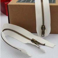 25cm/9.84inches Metal Zipper 50Pcs/Lot Open End Accessary Zippers & Puller Accessary for Tailor Sewer Craft Bag Clothes DIY