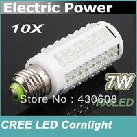 NEW PROMOTION HOT Selling NEW E27 Cool White 108 LED Light 7W 360 Ultra Bright Corn Bulb Lamp 220V Free Shippng