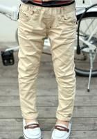 free shipping 2013 autumn children's lettter embroider pants boy's cotton full length pants little boy's trousers