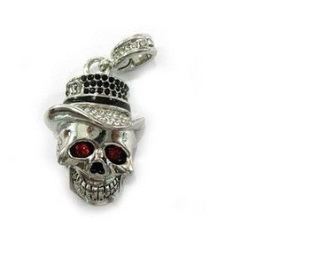 4gb 8gb 16gb 32gb metal silver skull head skeleton crystal jewelry USB 2.0 flash drive memory pen disk Drop ship dropshipping