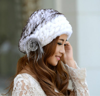 Hot sales 2013 rex rabbit hair fur hat women's beret hat winter cap thermal casual cap free shipping