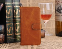 Free Shipping Wholesale Luxury Retro Flip Wallet Card Holder Magnetic Stand Genuine Leather Cases Cover For Apple Iphone 5C Bags