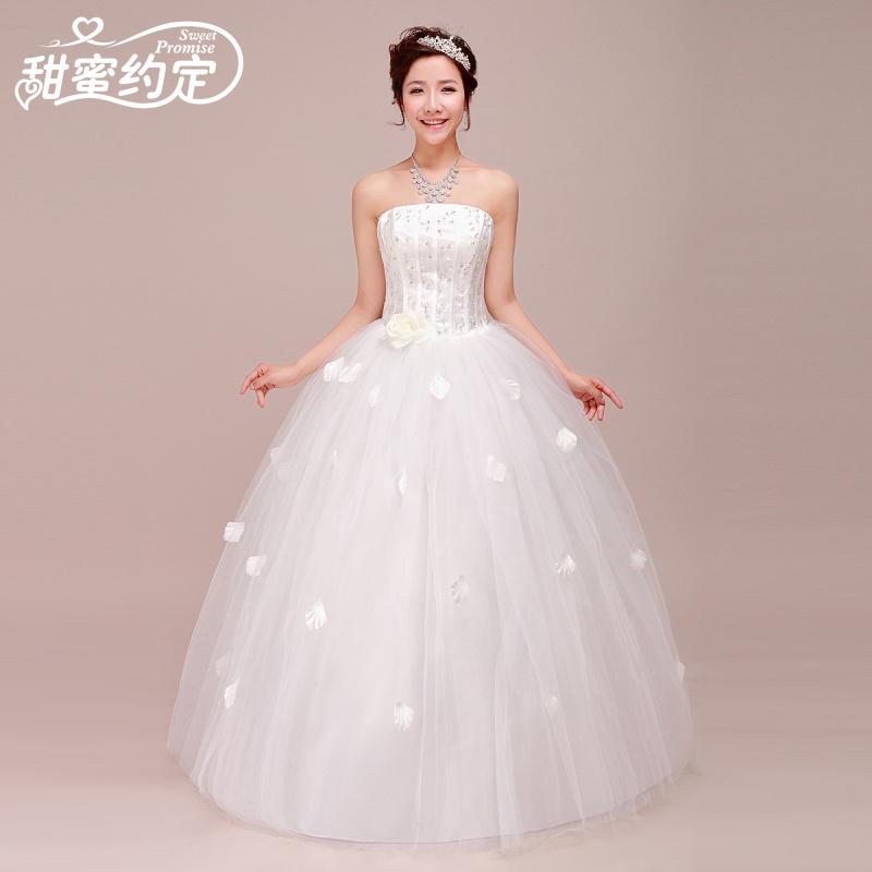 Wedding Dress 2013 Autumn New Sweet Princess Bride Wedding Dress Rhinestone F