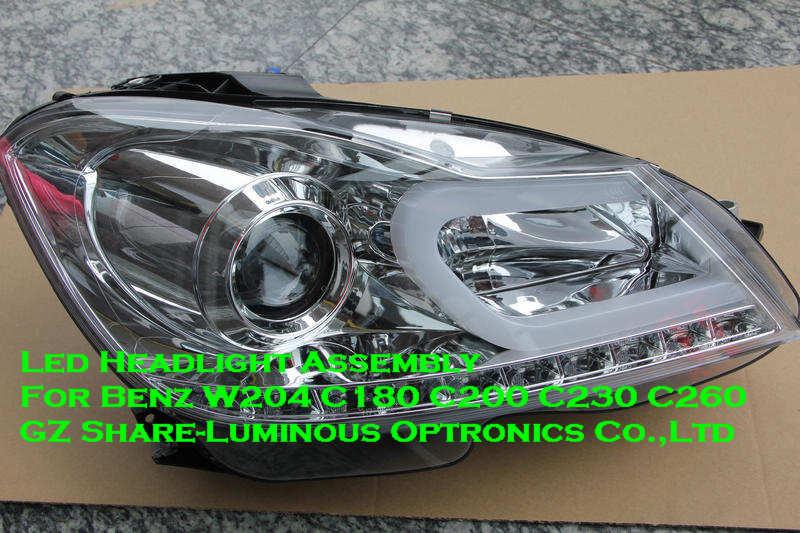 Taiwan Top Bi Xenon Projector Led Headlight For Benz W204
