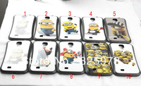 10pcs/lot new Despicable Me Minion case TPU hard back cover for samsung Galaxy S4/i9500+free shipping
