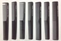 Hot Sale 100pcs/LOT Professional Hair comb Carbon Comb Anti-static Salon Comb Barber Comb 15Sizes Optional