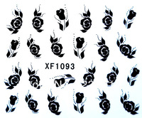 Wholesale FREE SHIPPING Hundreds beauty flower designs water decal nail art stickers applique patch XF1093 cheap