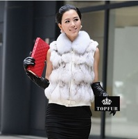 Genuine fox fur vest women fox fur Jacket winter fur coat custom big size Wholesale and retail Free shipping EMS TF0116
