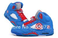 2013 New release brand cheap Captain America J5 J 5 v JD marvel blue retro men basketball shoes