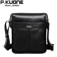 P . kuone BRAND male shoulder bag genuine leather messenger bag casual bag messenger bag leather bag 5001