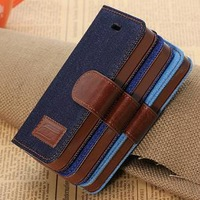 Hot-selling England Style Leather Case for Iphone 5 5G 5S Cover Free Shipping