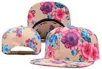 Cheap Newest Blank Flower Print Snapback Caps floral brim Fashion Top quality Woman's sun hats brand name's sports snapbacks cap