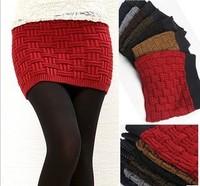 Polleras Falda Slim hip skirt bust skirt thickening knit short skirt bag skirt saias