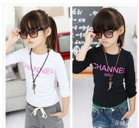 New Hot Children T Shirt Fit 3-7Yrs Girls Boys Kids Long Sleeve Tee Cotton Baby Clothing Wholesale Free Shippnig  5PCS/lot