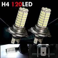 H4 Car LED LAMP 120 SMD 3528 Bulbs  12V H4 Fog/Daytime Light Lamp High Beam Headlight Bulb