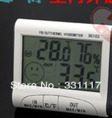 "DC103 2.9"" LCD Digital Thermometer / Hygrometer w/ Probe - White + Grey (1 x AAA)"