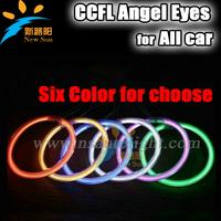 10sets a lot  CCFL angle eye wholesale price Impressive 7000K Super Bright White Angel Eye Halo Ring Light Lamp CCFL For All car