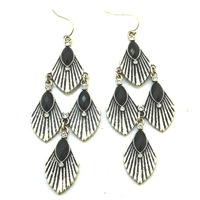 Free shipping min order$5 new arrive fashion accessories b36 : avon full packing silver leaves long tassel yl earrings