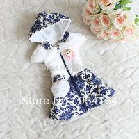 Big Promotion New 2015 Fashion Brand Baby Girls Vest Winter  Girls Child Hooded Cute Doll Decor Zipper Girl Vest Winter Autumn
