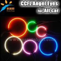 Factory price CCFL Halo Rings Angel Eye Kit White Headlight 60/65/72/75/80/85/90/94/100/105/110/115/120/126/140/145mm angel eyes