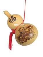 Handmade painting Medium natural gourd lucky Ruyi apotropaic hangings decoration gift
