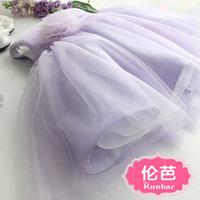 Flower girl formal dress female child dress princess dress purple tulle dress autumn children's clothing female child formal