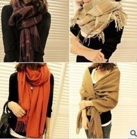 Free shipping New Hot Sale Korean Autumn Winter Ladies Wool Scarf Neckerchief Tippet Two Use Super Long W4220