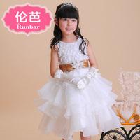 Flower girl wedding dress princess dress female child puff skirt tulle dress formal dress