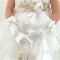Controversial child formal dress princess flower girl dress formal dress accessories long finger st02 five fingers gloves