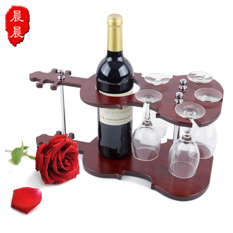 Wooden bar counter theroom wine rack wine rack hanging cup holder wine rack wine cooler decoration(China (Mainland))