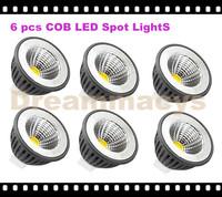 (6 pcs) MR16 3W Warm White / White COB LED Spot Light PAR16 Down Lamp Bulb 12v