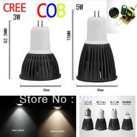 Brand NEW CREE MR16/GU10/E14/E27/GU5.3 COB dimmable LED spotlight bulb lamp Warm white/Cool White Lamp Light 3W/5W 12V/85-265V