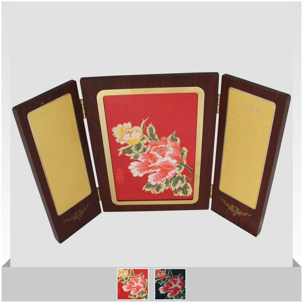 Brocade brocade box art decoration brocade gift gifts abroad peony(China (Mainland))