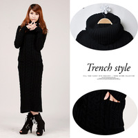 2013 Warm winter turtleneck thickening slim knitted sweater twisted pullover design women long-sleeved dress high quality