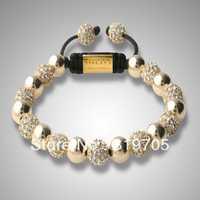 2013 fashion wholesale shamballa bracelet jewelry in stock for free shipping