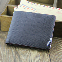 Genuine Leather famous brand men's wallet Plaid business casual short design leather wallet fashion wallet high quality