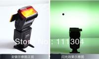 10pcs/lot free shipping  12pcs Strobist Flash Color card diffuser Lighting Gel Pop Up Filter for camera