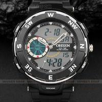 New OHSEN Men Boy Analog Digital ALARM STOPWATCH Light Dual Display Outdoor Sport Watch Waterproof Q5024