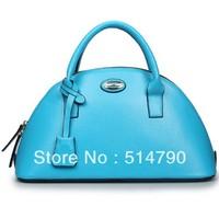 2013 Charming France Fashion Good Quality Genuine Calf Leather Elegant Women's Zipped Shell Bag Cross Body Bag Travel bags