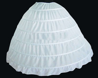 Stock High Quality White 6 Hoops Prom Gown Evening Dress Wedding Accessories Petticoat Bridal Crinoline Slip