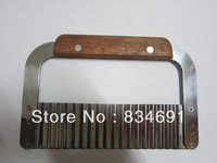 Stainless Steel Crinkle Knife Dough Pastry Potato Crinkle Cutter Serrated Chopper Wave Crinkle Slicer