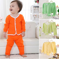 Child underwear set cotton baby autumn 100% male long johns newborn clothes autumn and winter cotton 100% 0-1 year old