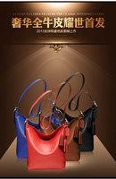 leisure cow leather lady handbags 3pcs,wholesale fashion shoulder bags