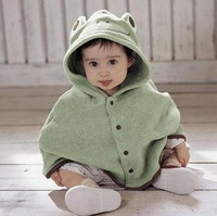 Frog style baby cloak with a hood cloak outerwear baby autumn cape autumn and winter clothes baby clothes