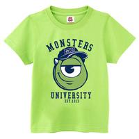Monsters Inc Mike Wazowski t-shirt cotton t-shirt couple t-shirt 13 colors free shipping quality