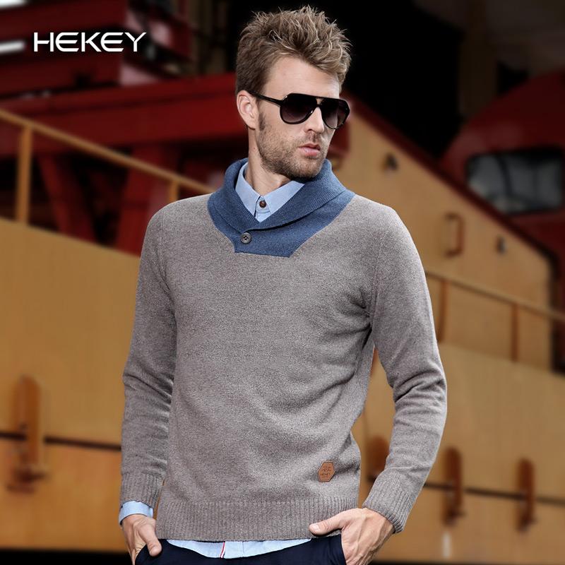 Sweater High Collar Shawl Collar Male Sweater